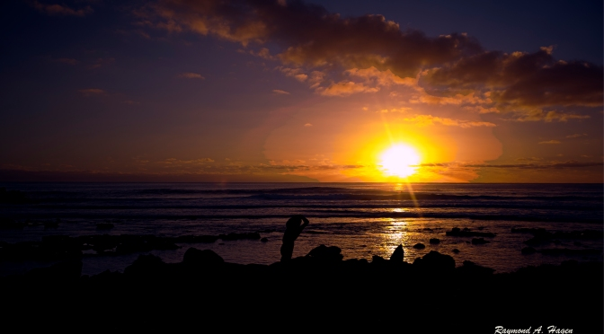 Picture of the day: Sunset over Easter Island
