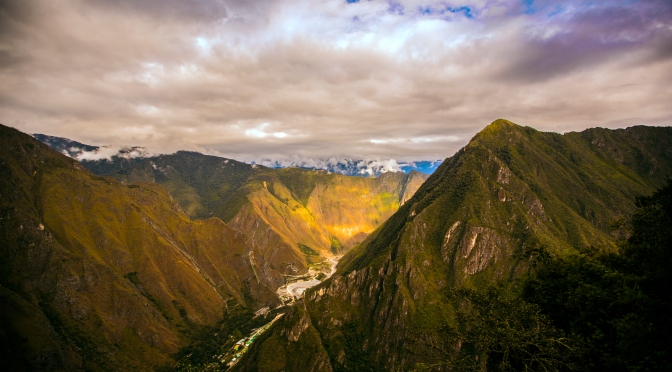 Memories of summer, the  mountain's  surrounding Machu Picchu