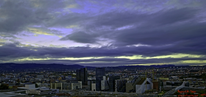 Evening view of Oslo