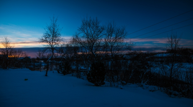 Picture of the day: Snowy landscape in my hometown